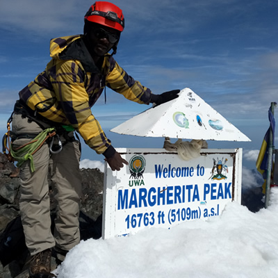 Climbing Rwenzori Mountains