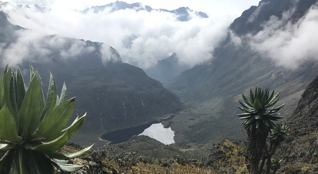 Lakes on Mount rwenzori