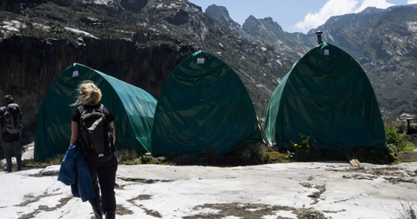 Kiharo Camp on Mountain Rwenzori