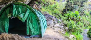 Camping at Mountain Rwenzori Uganda