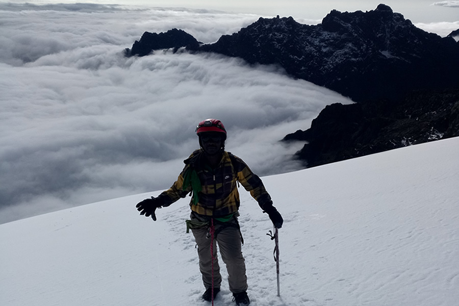 Climbing Mountain Rwenzori in Uganda